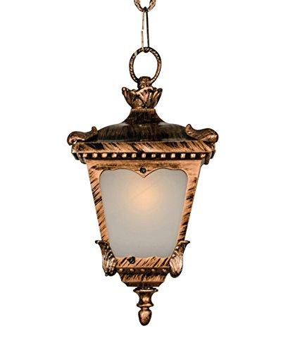 Fos Lighting Classic hanging light in antique copper finish