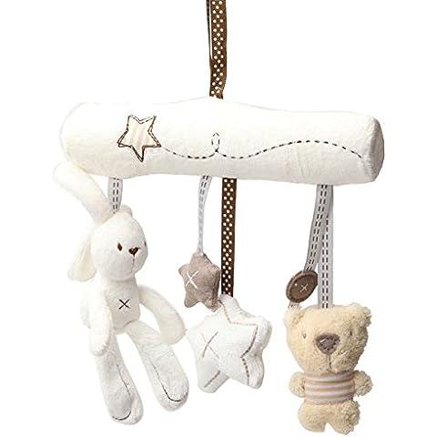 Paleo Niños bebé colgando cochecito cama cascabel conejo de peluche juguetes musicales cerveza