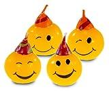 4 Kerzen * SMILEY * für Party und Geburtstag // Kuchenkerzen Figurenkerzen Kinder Geburtstag Party Fete Set Deko Motto Kuchen Kerze Kerzen Torte