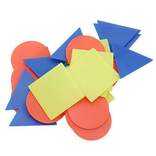 Beafavor 30 stücke Kunststoff Zählen Chips Mathematik Anzahl Zähler für Kinder Spiele EducationToy Geschenk