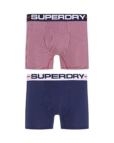 Superdry Herren Boxer Rød/Navy