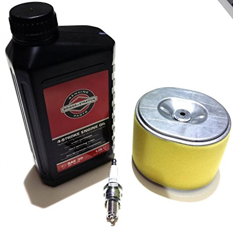 Honda GX340 and GX390 Service Kit, Includes Oil Air Filter and Spark Plug