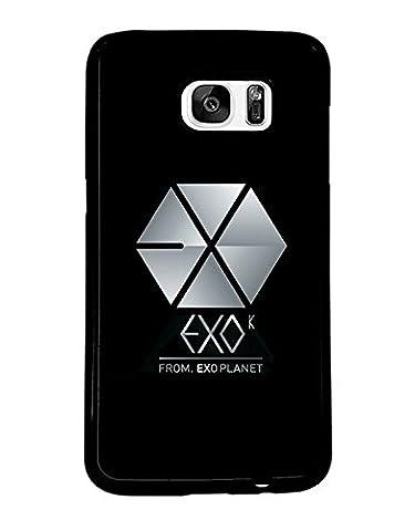 Band Logo Samsung Galaxy S7 Edge CoqueCase EXO Logo Hard Coquille for Man Woman EXO Logo Samsung S7 Edge CoqueCase Band Logo EXO Logo