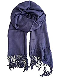 Stoles And Scarves For Women, Women's Scarf, Stole For Summer/Winter, Stylish, Plain Scarf, Blue