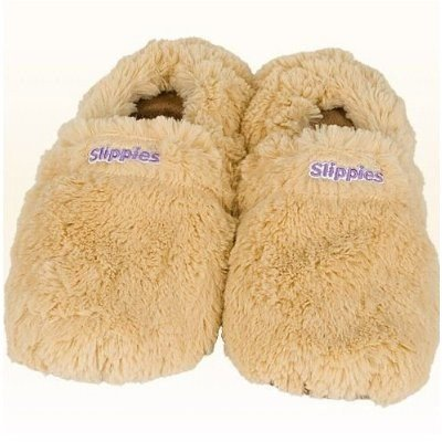 Warmies Slippies Deluxe wärme Pantoffel beige Gr. M (36-40), - Deluxe-backofen