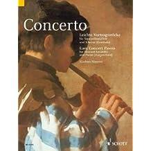 Concerto––ligero vortragsstu esquina–Arreglados para flauta dulce soprano––Piano (Cembalo) [Notas/Alemán]
