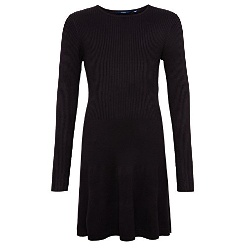 TOM TAILOR Kids Mädchen Kleid Ribbed Knit Dress, Blau (Navy 6000), 140