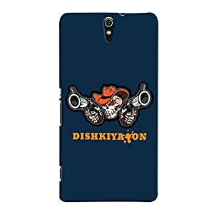 ColourCrust Sony Xperia C5 /Ultra Dual Sim Mobile Phone Back Cover With Dishkiyaaon Quirky - Durable Matte Finish Hard Plastic Slim Case
