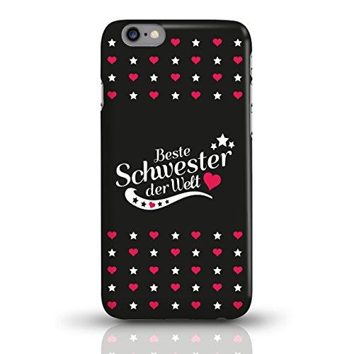 """JUNIWORDS Handyhüllen Slim Case für iPhone 6 / 6s mit Schriftzug """"Beste Schwester der Welt"""" - ideales Weihnachtsgeschenk für die Schwester - Motiv 2 - Handyhülle, Handycase, Handyschale, Schutzhülle f motiv 3"""