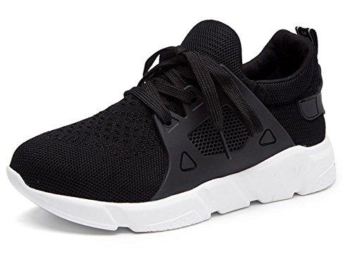 Student Sportschuhe Schuhe schnüren Dame flache Schuhe des flachen Munds Dame der beiläufigen Schuhe Herbst Aufzug Schuhe laufen Black