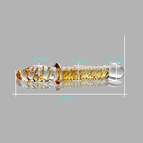 LRWTY 21cm Ice Fire Stick Weibliche Glas Pěnis Zurück Gericht Analplug