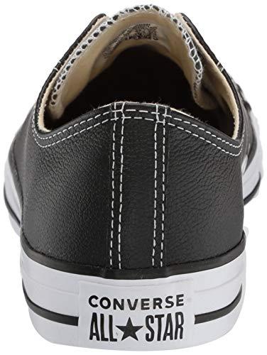 Converse Chuck Taylor Core Lea Ox Unisex-Adult Trainers Black/White Size: 43 EU