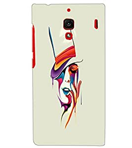 XIAOMI REDMI 1S GIRL PAINTING Back Cover by PRINTSWAG
