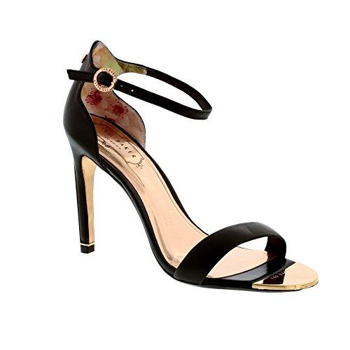 Ted Baker Sharlot, Sandali con Cinturino Alla Caviglia Donna Nero (Black #000000)