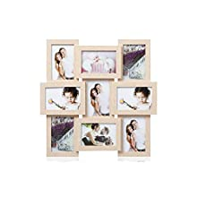 ARPAN MDF Multi Apperture Picture/Photo frame, Holds 9 x 6''X4'' Photos (Natural)