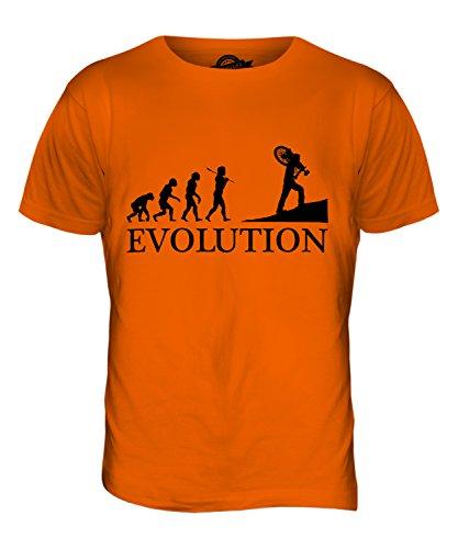 CandyMix Querfeldeinrennen Querfeldein Evolution Des Menschen Herren T Shirt Orange