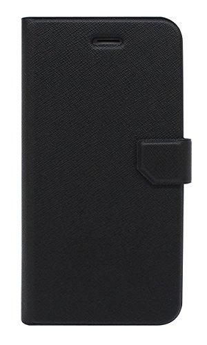 Fenice Diario Case Ultra dünne Klapptasche mit innovativer Magic Tape Halterung & Magnetverschluss für das Apple iPhone 6 / 6S - navy blau schwarz