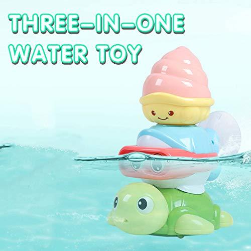Mitlfuny Schwimmenden Boot Badespaß Zeit Großes Geschenk Bath Toys für Baby,Kinder Baby Dusche Bad Spielzeug Dusche Wasserhahn Badewasser Spiel Sprühen Badezimmer Spielzeug