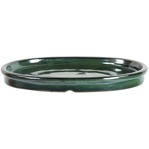 Bonsai Untersetzer 25x20x2.5cm Grün Oval