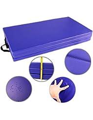 CCLIFE Colchoneta Plegable de Espuma para Gimnasia Yoga Deportiva Yoga estrilla Triple Plegable 180/120