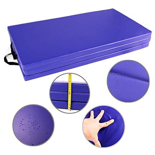 CCLIFE 180x120x5cm Turnmatte Weichbodenmatte Klappbar Gymnastikmatte Farbauswahl, Farbe:Blau