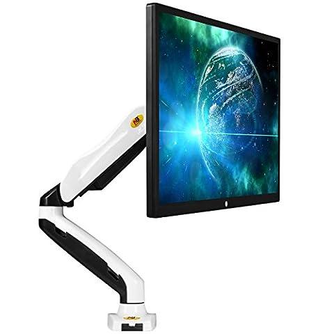 """NB F80 blanc - support pour écrans PC LCD LED 43-69 cm / 17-27"""" réglage dans plusieurs axes, pivot, ressort à gaz jusqu"""