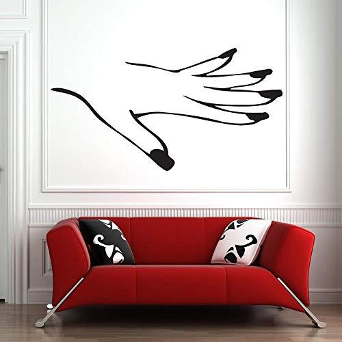ziweipp Nagelstudio wandtattoo fensteraufkleber Nägel Maniküre Pediküre Schönheitssalon Haus dekorative wasserdichte Vinyl decol decar 57 * 106 cm