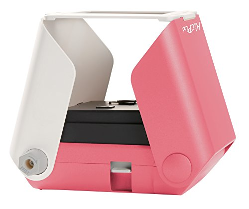 TOMY KIIPIX - Imprimante Photo Portable Rose E72753, Mini Imprimante Photo Couleur 1 ppm, Imprimante instantanée Polaroïd, Scanner Portable Adapté aux 14ans+