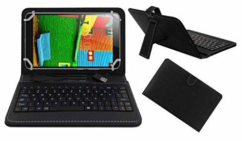 Acm Premium Usb Keyboard Case For Lenovo Phab 6.98 Tablet Cover Stand With Free Micro Usb Otg - Black