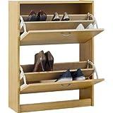 Maine zapatero gabinete de almacenamiento–efecto madera de roble.