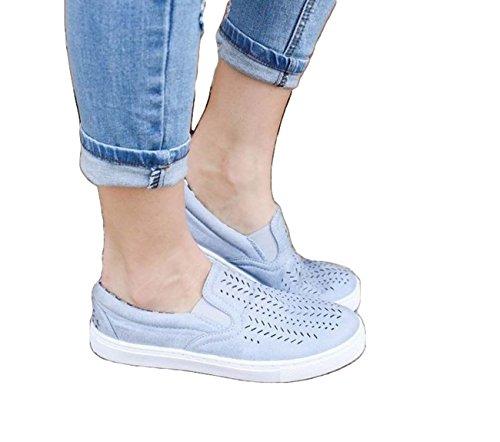 Scarpe Piatte Femminili Scarpate Su Scarpette Scariche Respirabile Scarpe Casual Di Grandi Dimensioni Blue