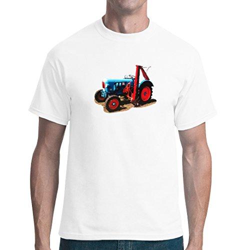 Traktoren unisex T-Shirt - Oldtimer-Traktor: Eicher Oldtimer mit Mähwerk by Im-Shirt - Weiß 3XL
