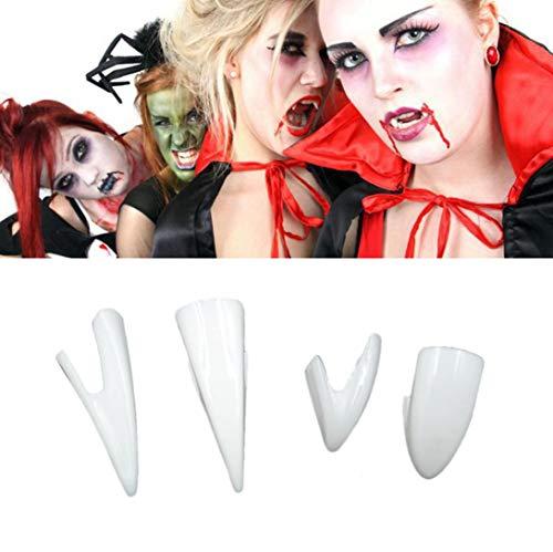 LCLrute Halloween Zähne Vampirzähne Zahnersatz für Party Halloween Halloween Rollenspiele Kostüm Zubehör Weiß