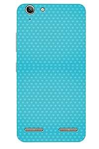 AMAN Love Blue Pattern 3D Back Cover for Lenovo Vibe K5 Plus