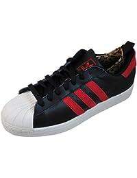 huge discount e9fba 9e87e adidas Originals Herren D74390 11.5 Adidas Superstar Ii Herrenturnschuhe,  Schwarz Weiß Rot