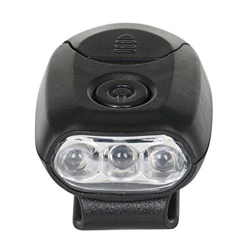 """Preisvergleich Produktbild TRIXES Schwarzes Clip-On 3 LED-Licht für Basecap oder andere Kappen und Mützen, für Arbeit, Camping, zum """"händerfreien Wandern, Joggen, Angeln u.v.m."""