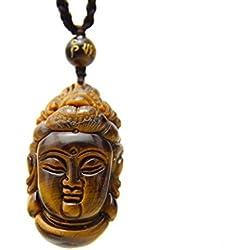 cot08–Collar con ojo de tigre Buda Tara