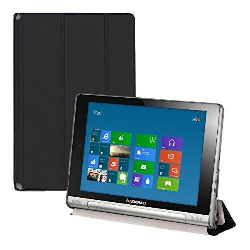 kwmobile Funda para Lenovo Yoga Tablet 8 - Carcasa Inteligente de [Cuero sintético] con [Soporte] y Cierre de Libro para Tablet