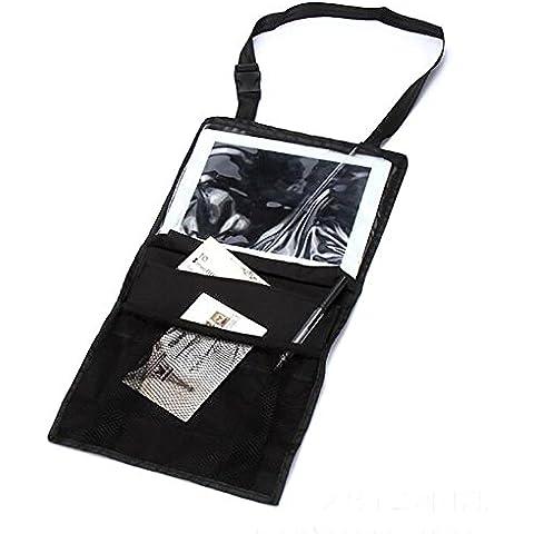 OurKosmos® sedile posteriore dell'automobile dell'organizzatore, sedile posteriore dell'automobile dell'organizzatore multi-tasca bagagli di viaggio con touch screen Holder iPad, Adatto per bambini accessori da viaggio e Kids Toy bagagli