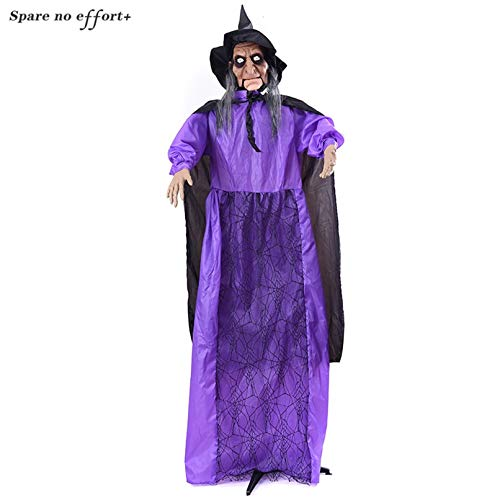 Womens Beängstigend Hexe Kostüm - WSJDE Große Größe stehend hängend Ghost