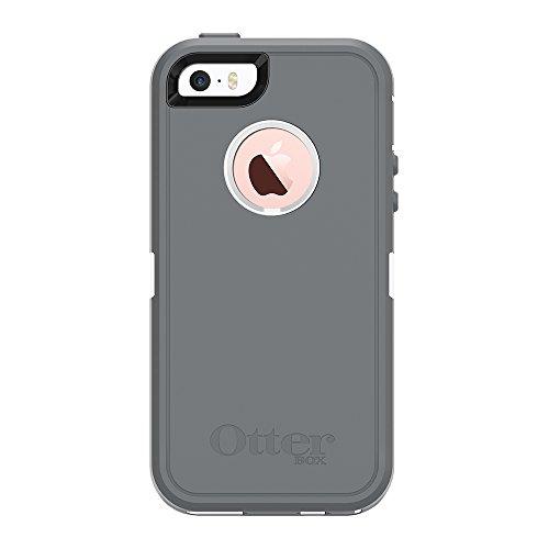 OtterBox 77-38964Defender Series Schutzhülle für iPhone 5/5S/SE-frustrationsfreie Verpackung-Glacier (White/Gunmetal Grey) - Otterbox 5s Fälle Iphone