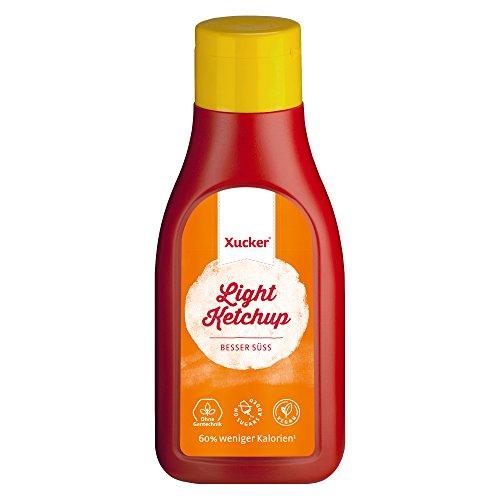 Xucker Ketchup mit Xylit 500 ml, ohne zugesetzten Zucker - 30% weniger Kalorien - Blutzuckerneutral, Zahnfreundlich, Vegan