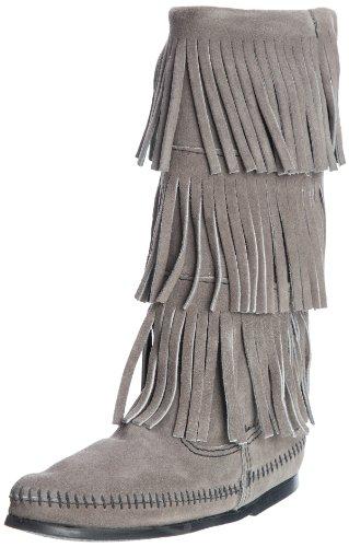 Minnetonka 163, Bottes Indiennes Femme Grey