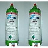 Nr 2 cilindros de gas R 410A 800 gr producto neto para CLIMATIZZATORI vacío 1 lt recargable incluido en el precio