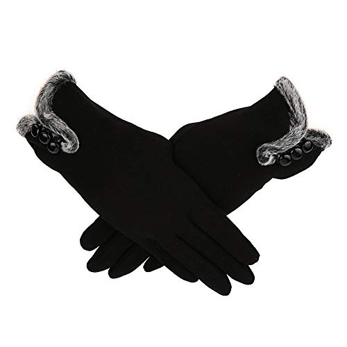 Duanlidong Soft Cashmere Keep Warm Winter Guantes