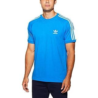 adidas Men's 3-Stripes T-Shirt, Bluebird, Medium