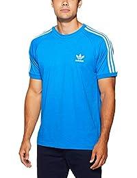 Adidas 3-Stripes tee Camiseta, Hombre, Azul (azucie), L