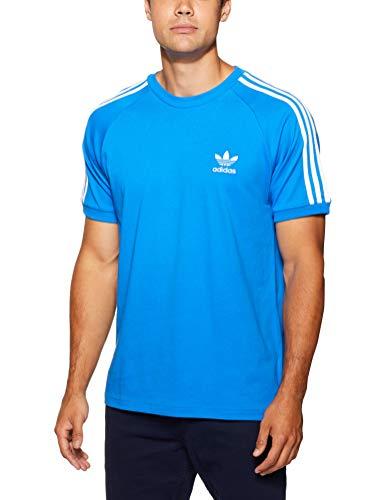 adidas Herren 3-Stripes T-Shirt, Bluebird, L (Langarm-polo Adidas)