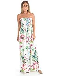 f2a6b990d3 Love Celeb Look New Ladies Print Floral Strapless Boobtube Fashion Long  Sheering Maxi Dress Top
