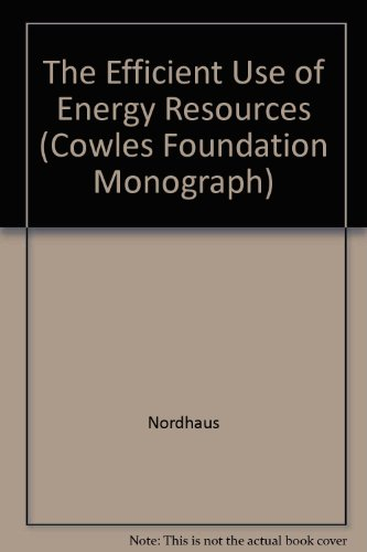 Efficient Use of Energy Resources PDF Books